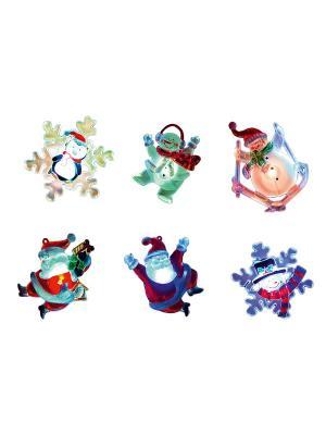Набор декоров мигающих с присоской на окно Gardman. Цвет: белый, красный, черный