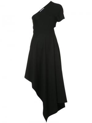 Платье со вставкой Rosetta Getty. Цвет: чёрный