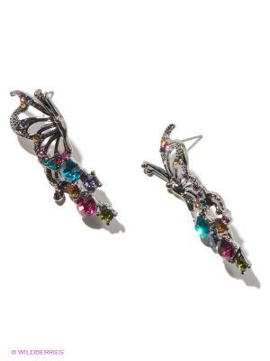 Серьги Royal Diamond. Цвет: серебристый, сиреневый, малиновый, лазурный
