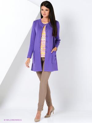 Жакет KTF Collection. Цвет: фиолетовый