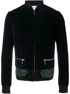 Многослойная куртка-бомбер Kolor. Цвет: синий
