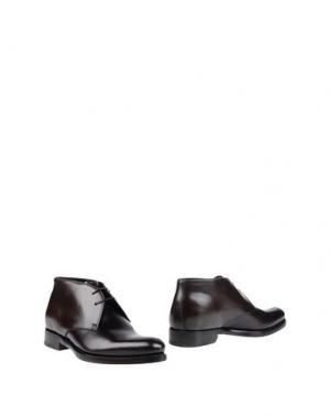 Полусапоги и высокие ботинки SALVATORE FERRAGAMO. Цвет: баклажанный