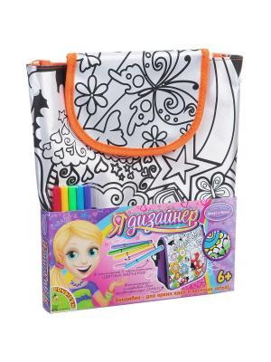Рюкзак для раскрашивания BONDIBON, оранж. кант, 29х30х12,5 см, арт. MTBF068 BONDIBON. Цвет: розовый