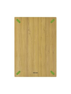 Разделочная доска из бамбука, 33 х 23 см, NADOBA, серия STANA Nadoba. Цвет: зеленый, бежевый