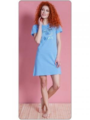 Туника Vienetta Secret. Цвет: светло-голубой