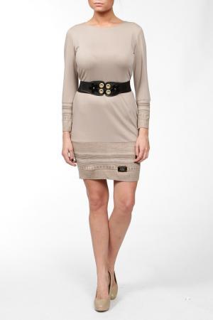 Платье Asil. Цвет: бежевый