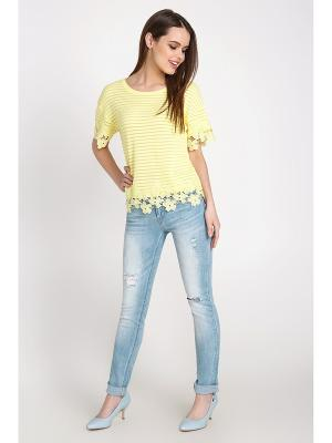 Блузка-топ Concept Club. Цвет: желтый