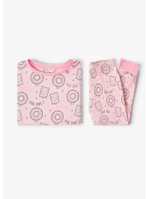Пижама - DONUT Mango kids. Цвет: розовый