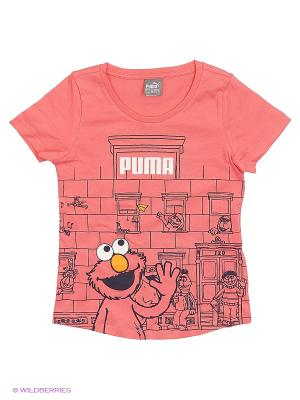 Футболка Sesame Street Tee Puma. Цвет: розовый