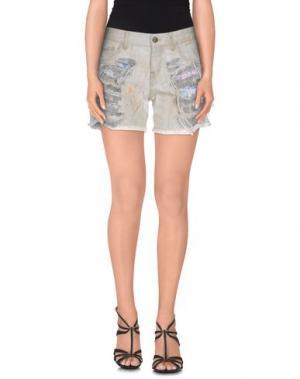 Джинсовые шорты SEVEN7. Цвет: серый
