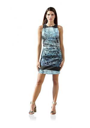 Платье-футляр Ashley Brooke. Цвет: аква