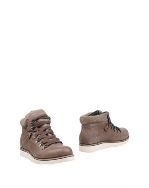 Полусапоги и высокие ботинки FRED MELLO. Цвет: голубиный серый