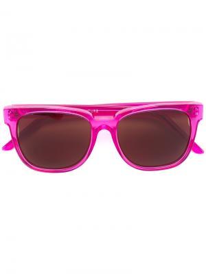 Солнцезащитные очки в квадратной оправе Retrosuperfuture. Цвет: розовый и фиолетовый
