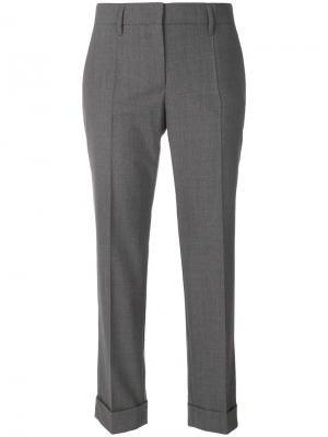 Cropped tailored trousers Prada. Цвет: серый