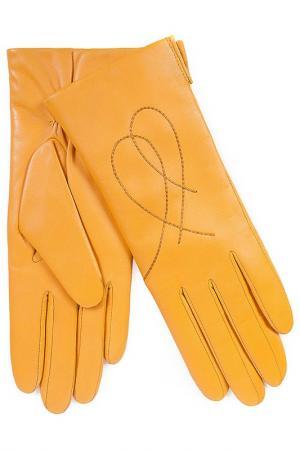 Перчатки Michel Katana. Цвет: желтый