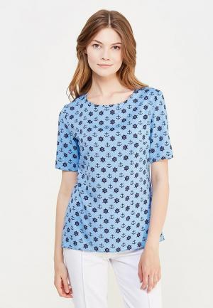 Блуза Miss & Missis. Цвет: голубой