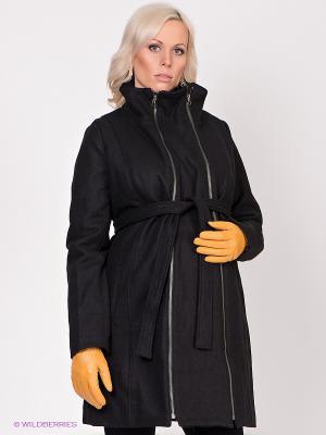 Пальто Mama Licious. Цвет: черный