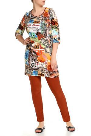 Платье домашнее, леггинсы LAVELLE. Цвет: коричневый