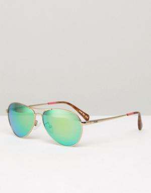 Toms Солнцезащитные очки‑авиаторы Kilgore. Цвет: золотой