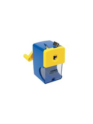 Lyra точилка механическая, металлический корпус.. Цвет: синий, желтый, белый