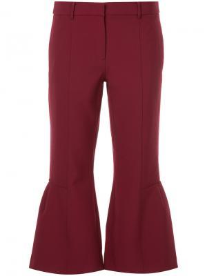 Укороченные брюки клеш Ck Calvin Klein. Цвет: красный
