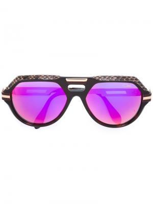 Солнцезащитные очки с оправой авиатор Cazal. Цвет: коричневый