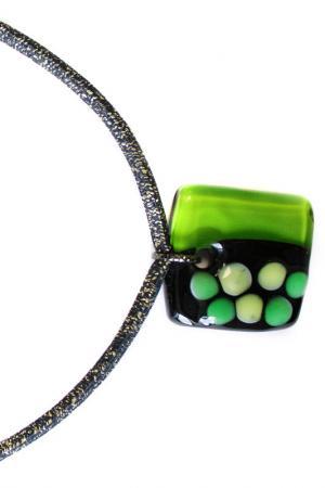 Кулон BLOB Divetro. Цвет: зеленый, черный