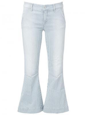 Укороченные расклешенные брюки The Seafarer. Цвет: синий