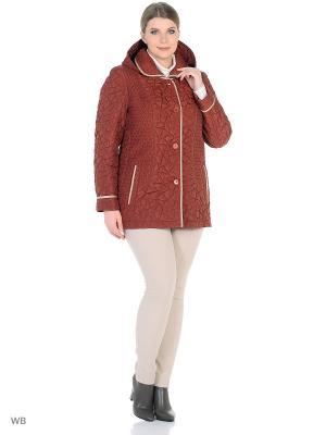 Утепленная куртка MONTSERRAT. Цвет: терракотовый