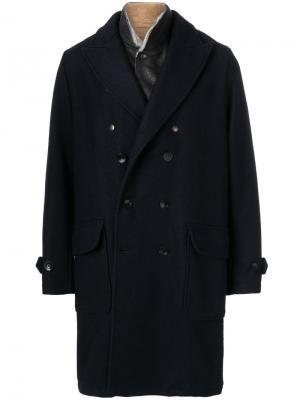 Однобортное пальто East Harbour Surplus. Цвет: синий