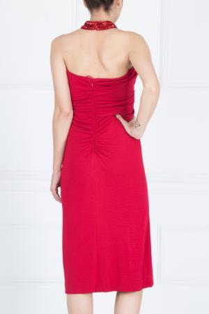 Платье из вискозы Azzaro. Цвет: красный