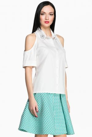 Блуза 144343 Lolita Shonidi. Цвет: белый