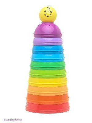 Развивающие стаканчики FisherPrice. Цвет: желтый, синий, зеленый