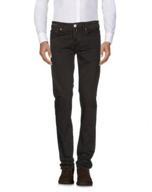 Повседневные брюки PT05. Цвет: темно-коричневый
