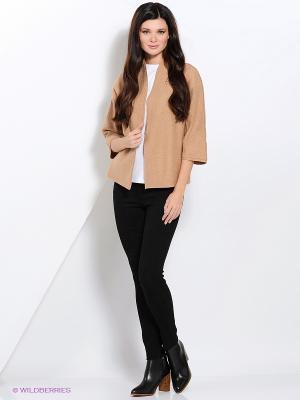 Жакет Valeria Lux. Цвет: светло-коричневый