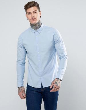 Dead Vintage Оксфордская рубашка. Цвет: синий