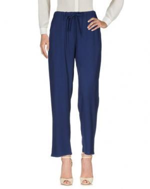Повседневные брюки LANACAPRINA. Цвет: темно-синий