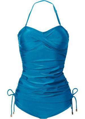 Купальный костюм-танкини (2 изделия) (сине-зеленый) bonprix. Цвет: сине-зеленый