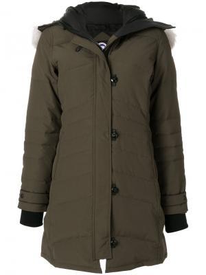 Дутое пальто Canada Goose. Цвет: зелёный