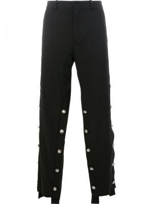 Декорированные широкие брюки Y / Project. Цвет: чёрный