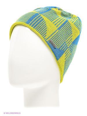 Шапка Viking caps&gloves. Цвет: голубой, желтый