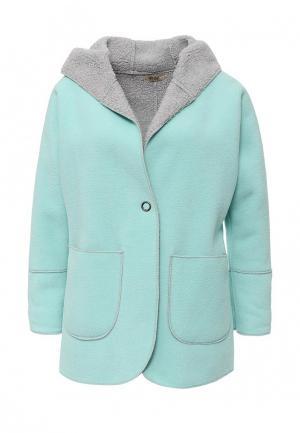 Пальто Besh. Цвет: голубой