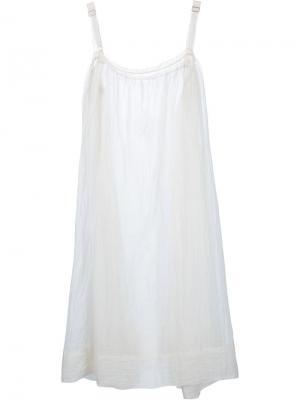 Платье Loose Chemise Dosa. Цвет: белый