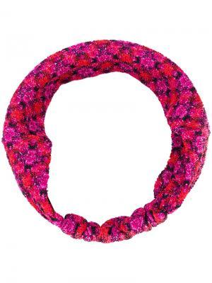 Вязаная повязка на голову с узором Missoni. Цвет: розовый и фиолетовый
