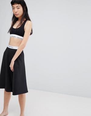 Calvin Klein Пижамные капри Youth. Цвет: черный