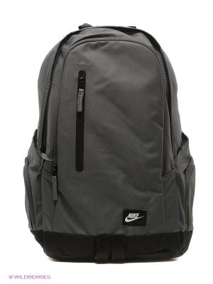 Рюкзак NIKE. Цвет: серый, темно-серый, черный