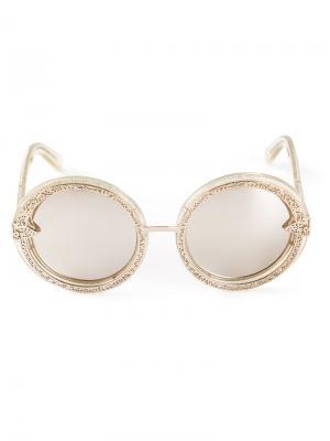 Солнцезащитные очки Orbit Filigree Karen Walker Eyewear. Цвет: металлический