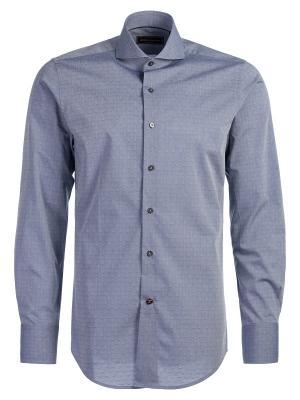 Рубашка Angelo Bonetti. Цвет: серо-голубой