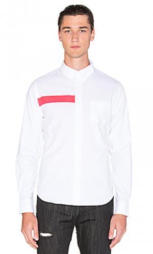 Рубашка на пуговицах ulai Black Scale. Цвет: whiten