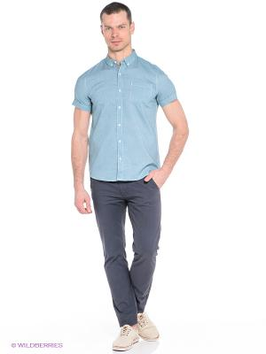 Рубашка Oodji. Цвет: зеленый, белый